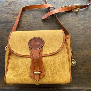 Vintage Dooney & Bourke Palomino Yellow Crossbody